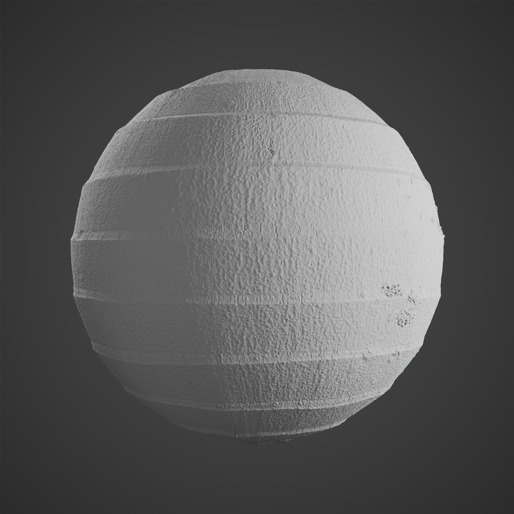 The image shows a sphere with our Palm Tree Bark texture