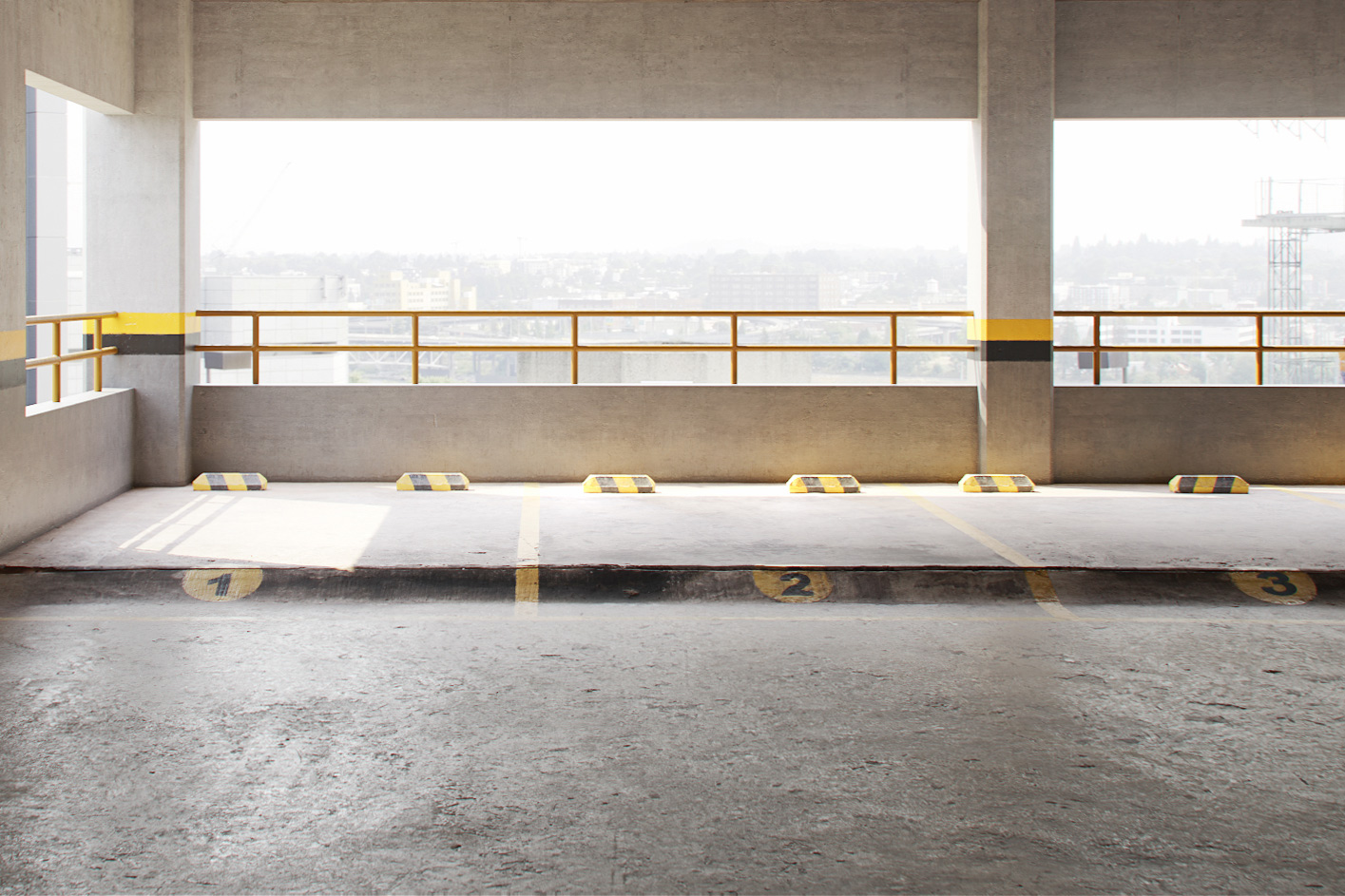 The image shows a render using the parking floor texture