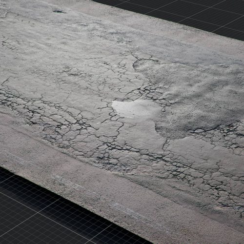 The image shows a road made using the road asphalt texture