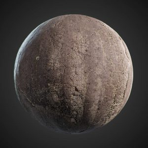 The image shows a sphere with our road asphalt 02 texture.