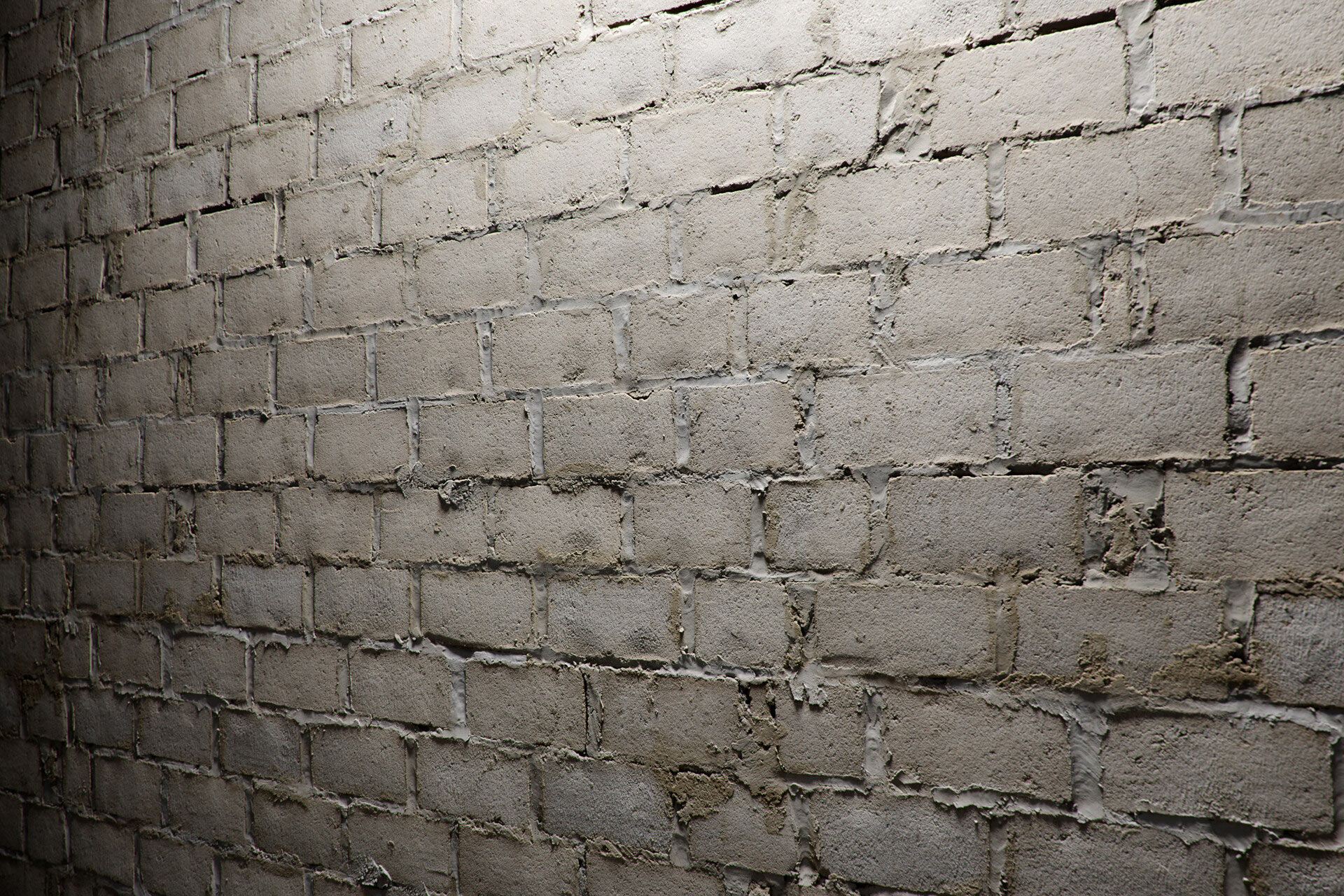 The image shows a wall made using the second sloppy blocks texture provided by Friendly Shade