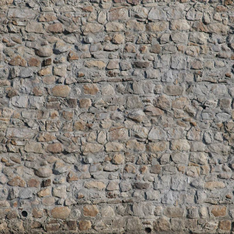 The image shows a cobblestone wall render made using Friendly Shade textures